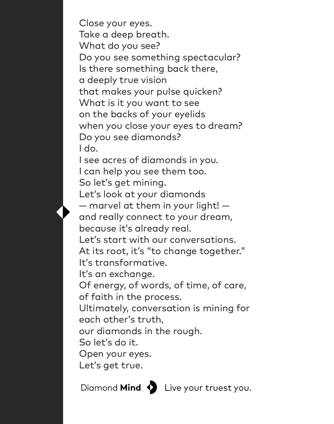 Diamond Mind Manifesto